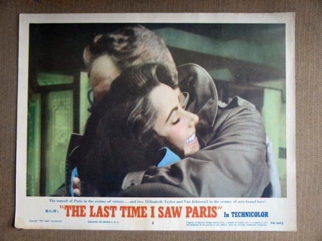 EE07 Last Time I Saw Paris ELIZABETH TAYLOR Lobby Card