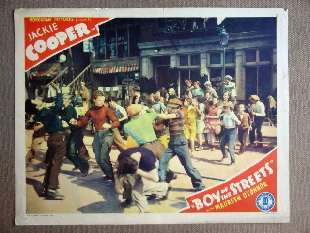EF02 Boy Of The Streets JACKIE COOPER 1938 Lobby Card