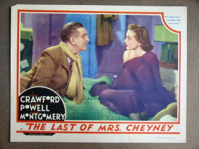 EF23 Last Of Mrs Cheney JOAN CRAWFORD 1937 Lobby Card