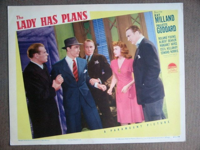 EG21 Lady Has Plans PAULETTE GODDARD/MILLAND Lobby Card