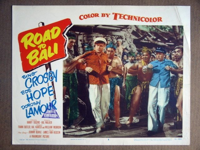 EG36 Road To Bali BOB HOPE/BING CROSBY 1952 Lobby Card