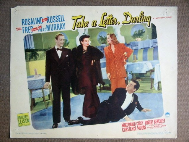 EG41 Take Letter ROSALIND RUSSELL/MacMURRAY Lobby Card