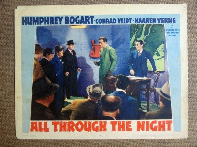 EH03 All Through The Night HUMPHREY BOGART Lobby Card