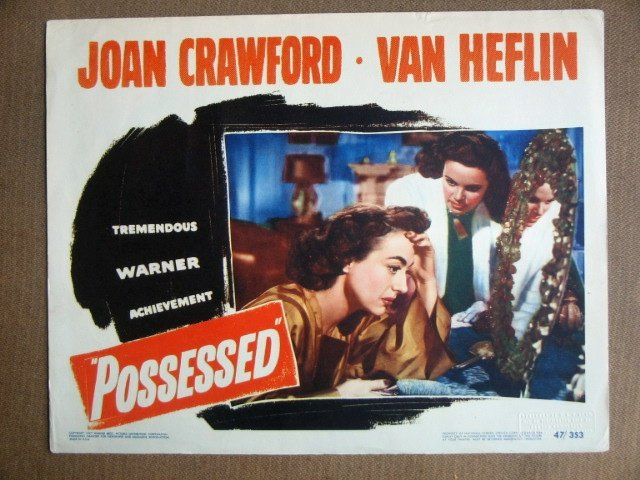 EH35 Possessed JOAN CRAWFORD 1947 Portrait Lobby Card