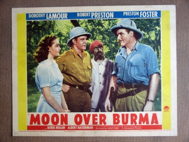 EH40 Moon Over Burma DOROTHY LAMOUR/PRESTON Lobby Card