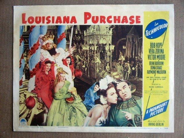 EI16 Louisiana Purchase BOB HOPE/VERA ZORINA Lobby Card