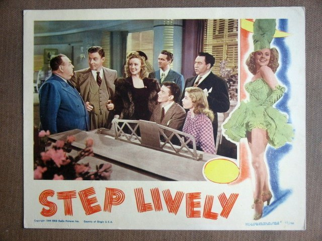 EI33 Step Lively FRANK SIMATRA/MURPHY '44 Lobby Card
