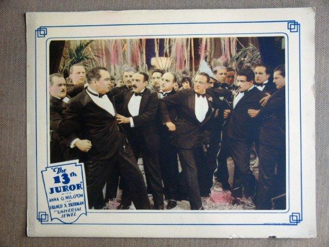 EI40 13th JUROR FRANCIS X. BUSHMAN 1927 Lobby Card