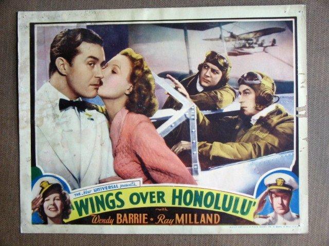 EI48 Wings Over Honolulu RAY MILLAND 1937 Lobby Card
