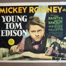 EI50 Young Tom Edison MICKEY ROONEY Title Lobby Card
