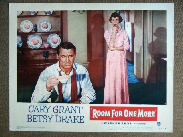 EJ47 Room For One More CARY GRANT/B DRAKE Lobby Card