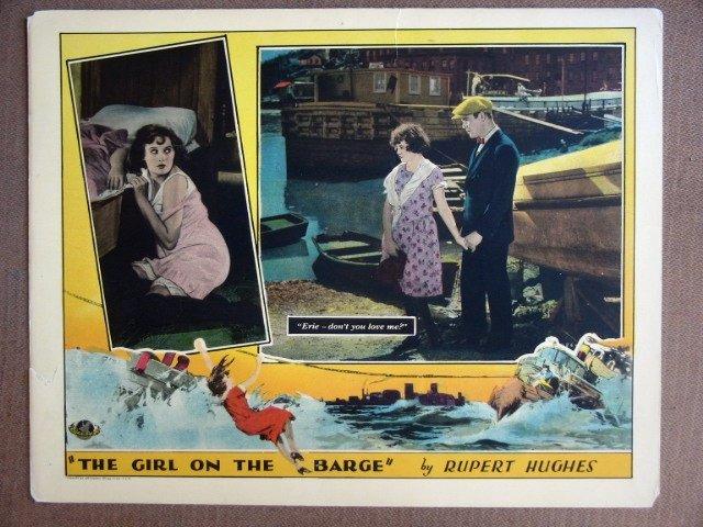 EK16 Girl On A Barge SALLY O'NEIL/J Hersholt Lobby Card