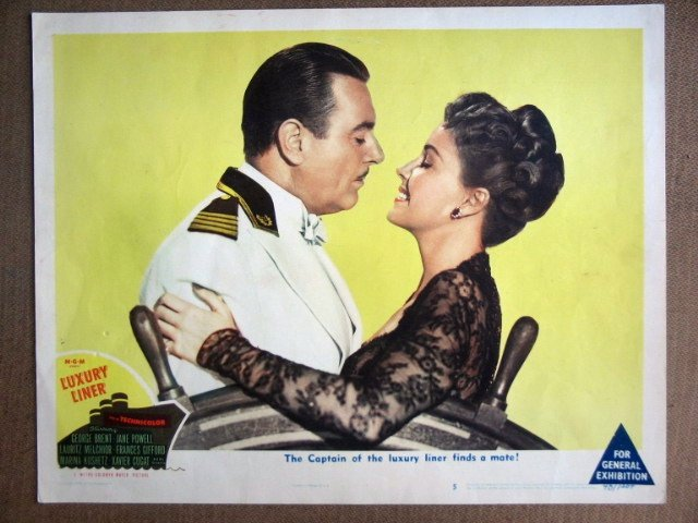EK20 Luxury Liner JANE POWELL/GEORGE BRENT Lobby Card