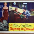 EK31 Payment On Demand BETTE DAVIS 1951 Lobby Card