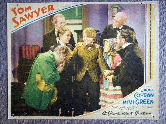 EK47 Tom Sawyer JACKIE COOGAN/MITZI GREEN Lobby Card