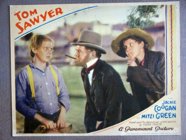 EK48 Tom Sawyer JACKIE COOGAN/JUNIOR DURKIN Lobby Card