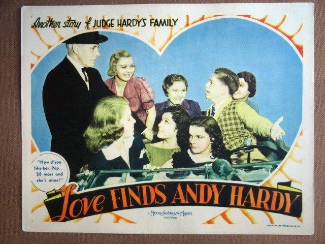 EL28 Love Finds Andy Hardy JUDY GARLAND 1938 Lobby Card