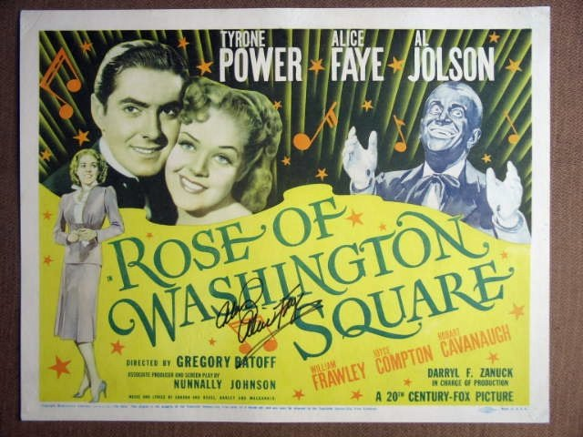 EN40 Rose Of Washington Sq  AL JOLSON Title Lobby Card