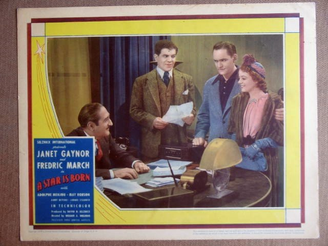 EN43 Star Is Born JANET GAYNOR/FREDRC MARCH Lobby Card
