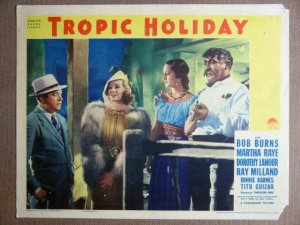 EN49 Tropic Holiday DOROTHY LAMOUR 1938 Lobby Card