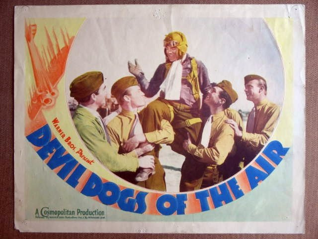 EO10 Devil Dogs Of The Air JAMES CAGNEY 1935 Lobby Card