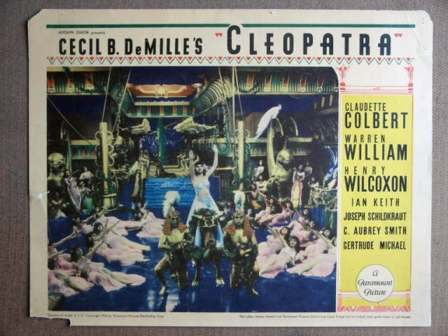 EP11 DeMille's CLEOPATRA Colbert Orig 1934 Lobby Card