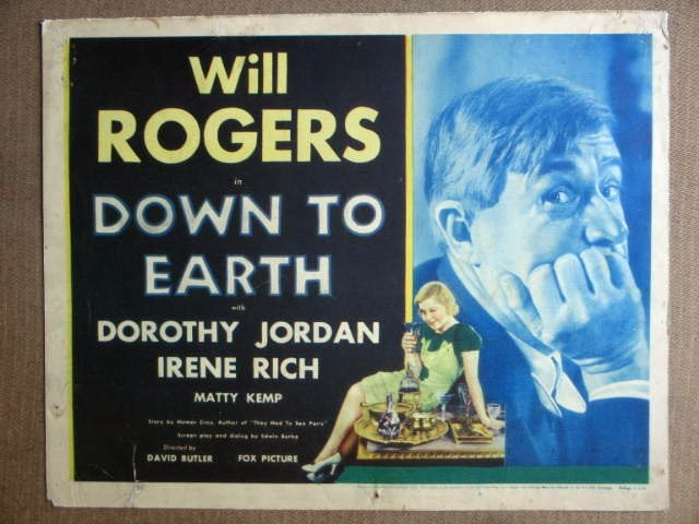 EP14 Down To Earth WILL ROGERS 1932 Title Lobby Card