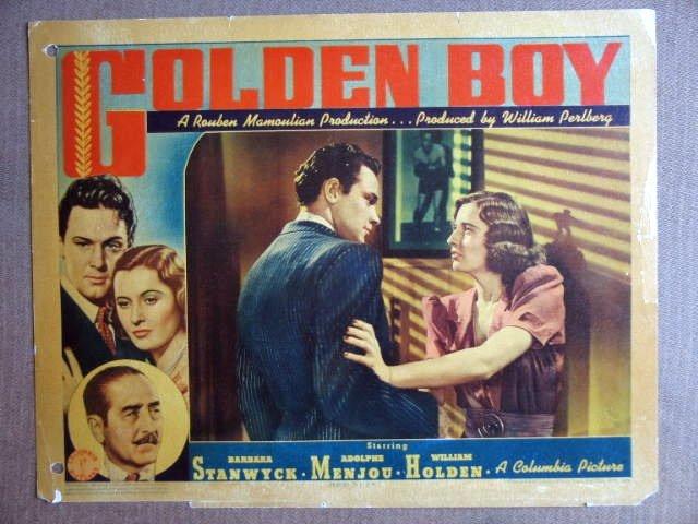 EP21 Golden Boy BARBARA STANWYCK/WM HOLDEN Lobby Card