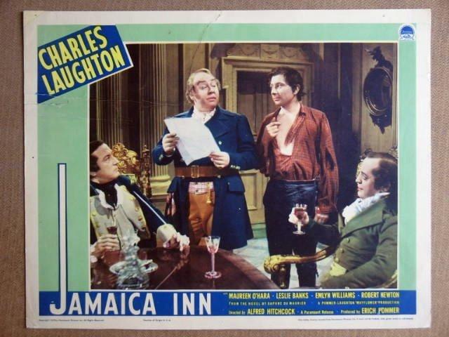 EQ22 Jamaica Inn CHARLES LAUGHTON/HITCHCOCK Lobby Card