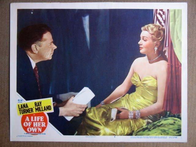 EQ25 Life Of Her Own LANA TURNER 1950 Lobby Card