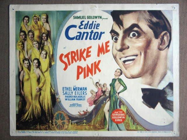 EQ39 Strike Me Pink EDDIE CANTOR 1936 Title Lobby Card