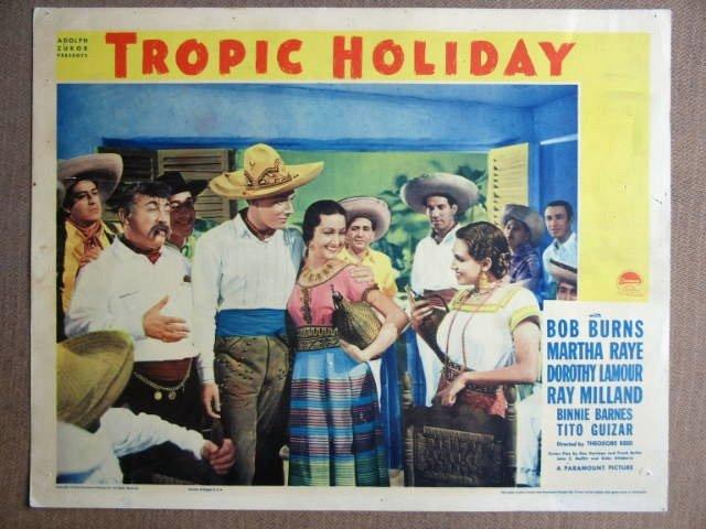 EQ43 Tropic Holiday DOROTHY LAMOUR 1938 Lobby Card