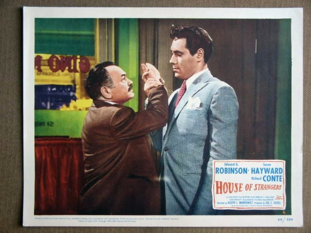 ER09 House Of Strangers EDWARD G. ROBINSON Lobby Card