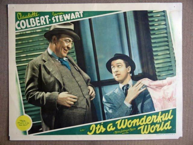 ER11 It's A Wonderful World JAMES STEWART Lobby Card