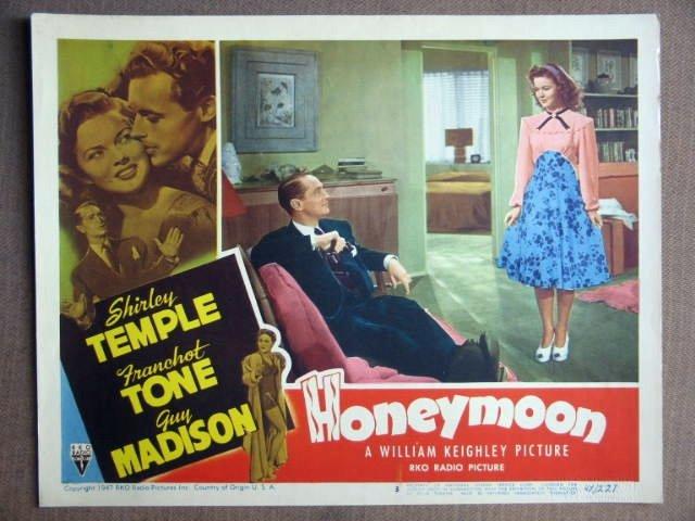 ES14 Honeymoon SHIRLEY TEMPLE/FRANCHOT TONE Lobby Card