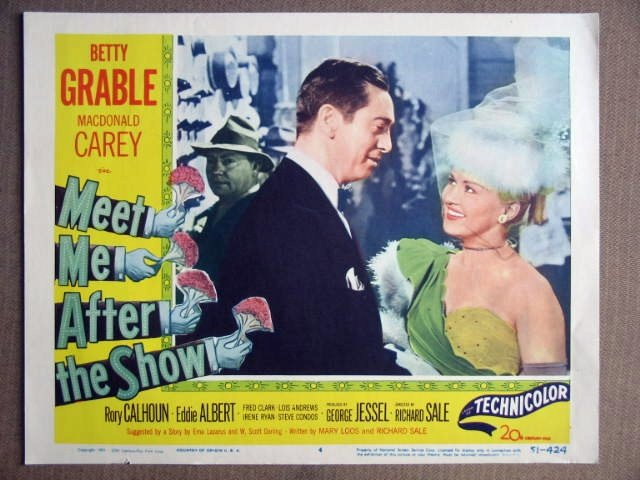 ES28 Meet Me After The Show BETTY GRABLE Lobby Card