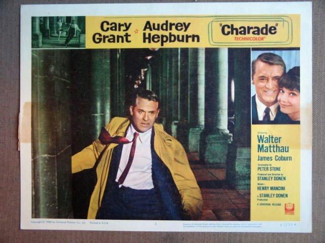ET08 Charade CARY GRANT/AUDREY HEPBURN Lobby Card