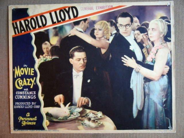 ET26 Movie Crazy HAROLD LLOYD Original 1932 Lobby Card