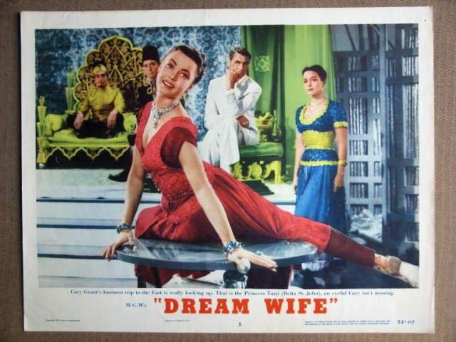 EW18 Dream Wife CARY GRANT Original 1953  Lobby Card