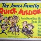 EW33 Quick Millions SPRING BYINGTON Title Lobby Card
