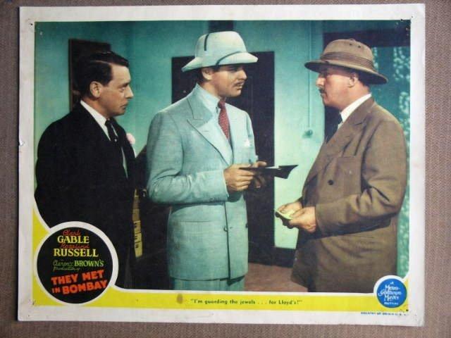 EW43 They Met In Bombay CLARK GABLE 1941 Lobby Card