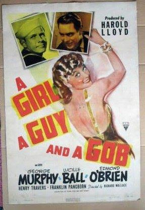 EW47 Girl, Guy & A Gob LUCILLE BALL One Sheet Poster LB