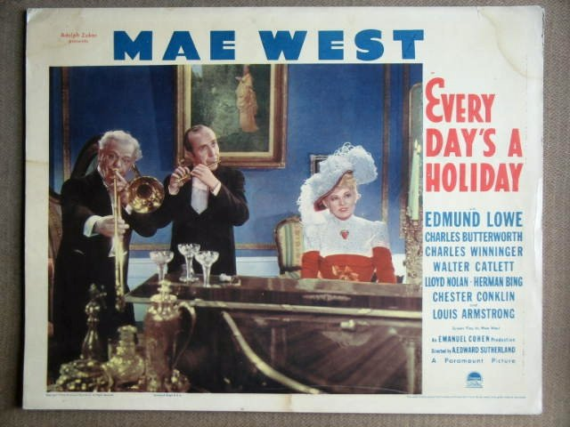 EX22 Every Day's A Holiday MAE WEST rare '38 Lobby Card