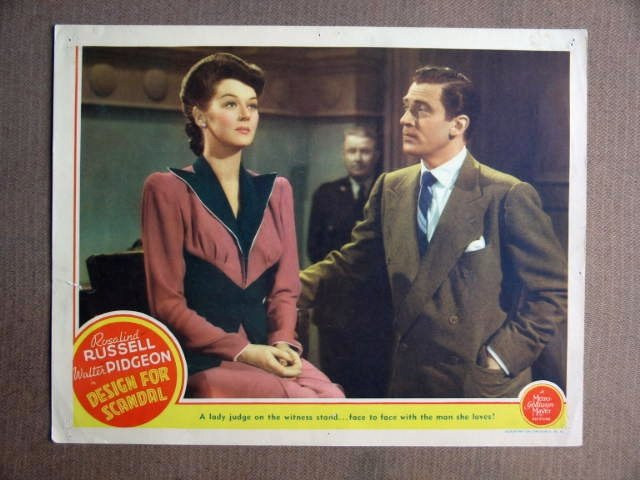 EY11 Design For Scandal ROSALIND RUSSELL Lobby Card