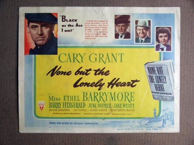 EY33 None But Lonely Heart CARY GRANT Title Lobby Card