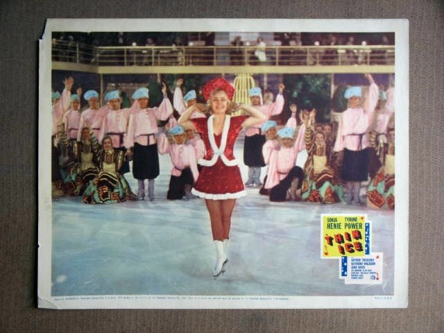 EY43 Thin Ice SONJA HENIE Original 1937  Lobby Card