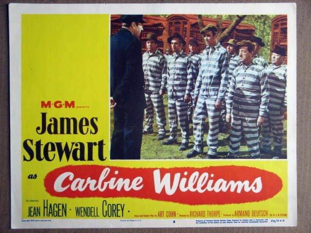 EZ17 Carbine Williams JAMES STEWART 1952 Lobby Card