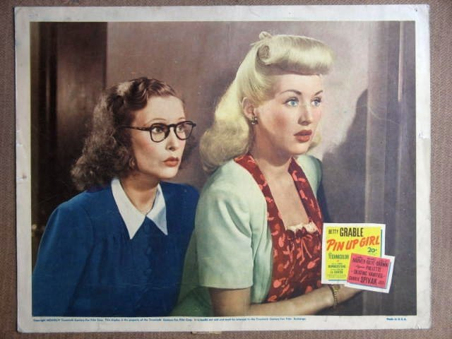 EZ44 Pin Up Girl BETTY GRABLE Portrait Lobby Card