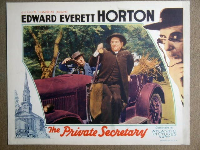 FB38 Private Secretary EDWARD EVERETT HORTON Lobby Card