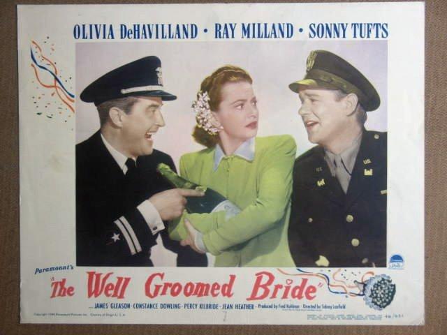 FB47 Well Groomed Bride OLIVIA DeHAVILLAND Lobby Card